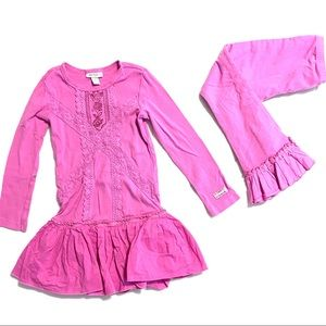 Naartjie girl's size 5 size pink matching set